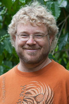 Tim Lloyd of Pohoiki, horticulturalist, homegrown food expert, and inventor.