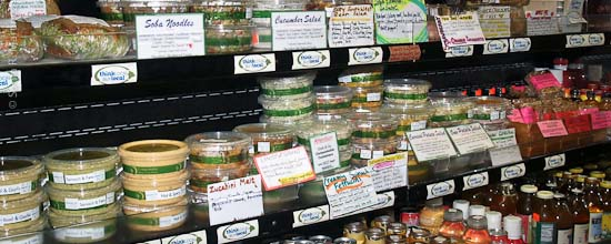 Abundant Life in-store ready-made foods.