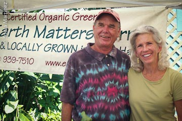 Greg Smith of Earth Matters with colleague Collee Nevins of Just MacNuts.