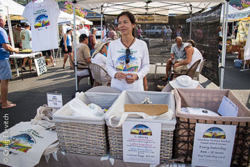 Nancy Ginter-Miller at Keauhou Farmers Market.