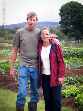 Steve and Lark Willey at Ka 'Ohi Nani Farm in Waimea
