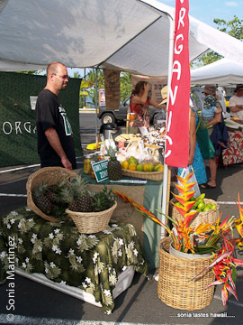 Kanalani Ohana Farm sells organically certified fruits and vegetables.