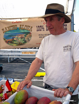 Bruce Corker at the Rancho Aloha stall.