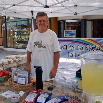 Kevin Beckley of Hawaiian Rainbow Farms.