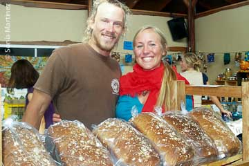Matt and Noelle Purvis of the Tin Shack Bakery.