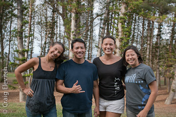 Workshop organizers (left to right): Andrea Dean, James Koshiba, Mailelaulii Neff and Keana Okuda.
